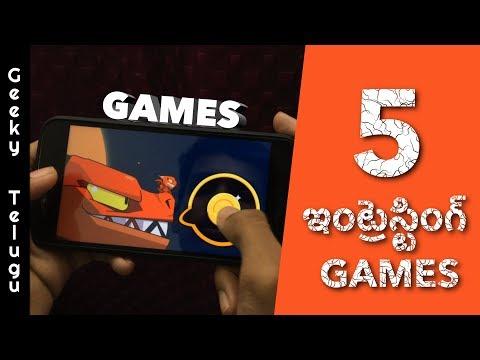 5 Intresting Games That You Must Play | Telugu | Geeky Telugu