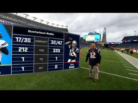 Gronks Spike hight though..lol NextVR Mixed Reality APP- Patriots VS. Chargers