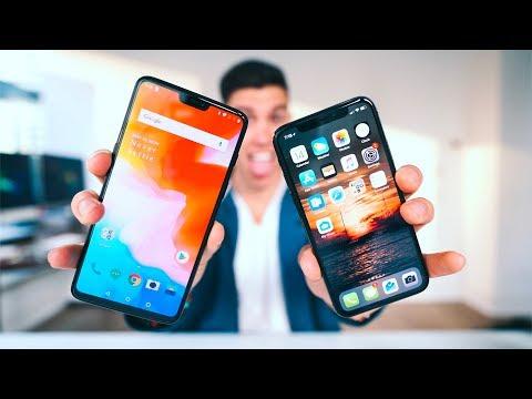 ONEPLUS 6 VS iPHONE X!