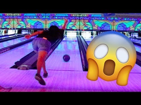 I Slipped at the bowling alley!
