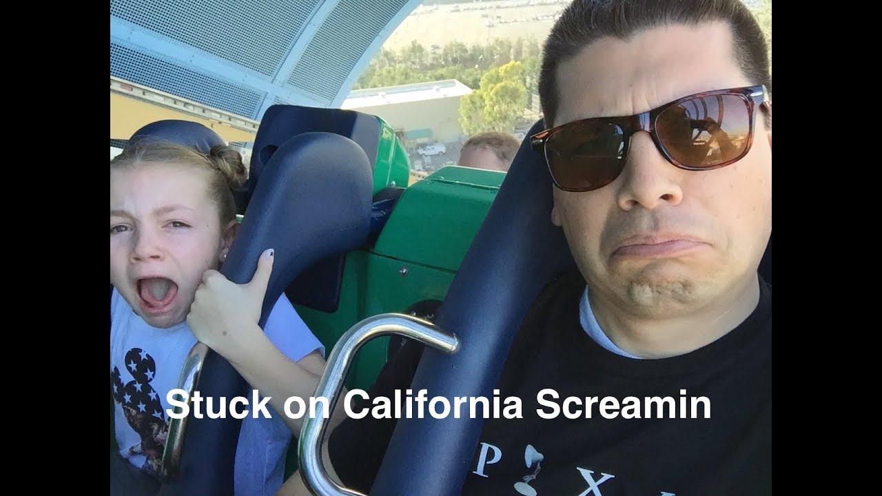 Stuck on California Screamin with a GoPro 2016 Disneyland California Adventure