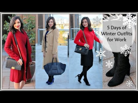 A Week of Work Appropriate Outfits | Winter Wonderland Style