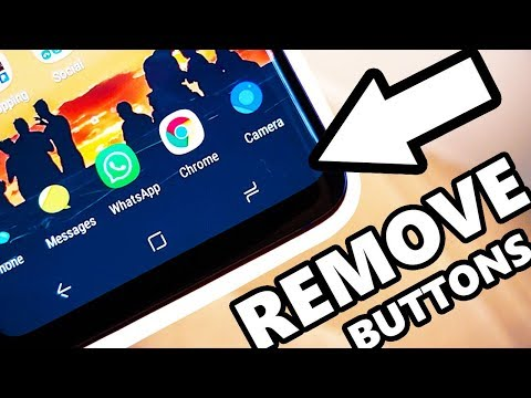 Samsung Galaxy S9 Remove Software Buttons - Immersive MODE