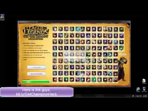 LEAGUE OF LEGEND HACK All Champions+Skin and free RP