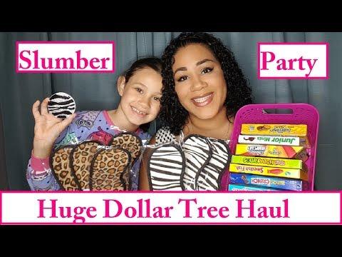 New Huge Dollar Tree Haul | Slumber Party Finds