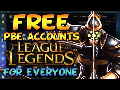 HOW TO GET FREE PBE ACCOUNTS - OPEN SIGN UP | Free Skins and Unlimited RP & IP - League Of Legends