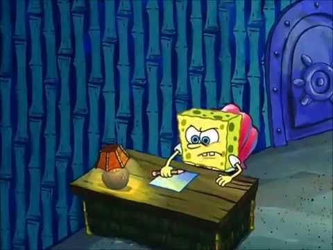an essay by Spongebob Squarepants
