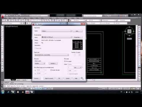 save file A4 pdf AUTO CAD