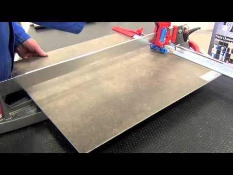 Cutting Porcelain Tile 4mm with manual tile cutter