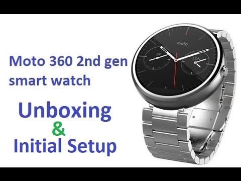 Moto 360 2nd gen smart watch - Unboxing and Setup
