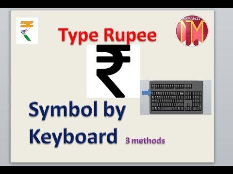 Type Rupee Symbol by keyboard in Hindi !! 3 methods
