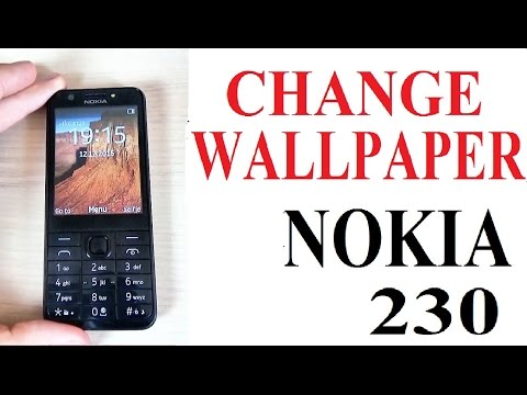 Nokia 230 - How to Set Up or Change Wallpaper