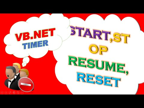 VB.NET Timer and ProgressBar Ep.01  - Start,Resume,Stop and Reset [Countdown Timer]