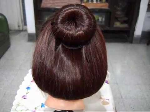 A Beautiful and Elegant Bun Hairstyle.