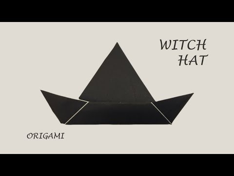 Witch hat - easy origami for Fun DIY Halloween decoration