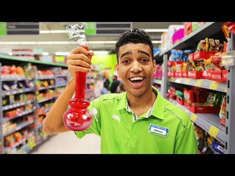 FAKE EMPLOYEE In GROCERY STORE | REVERSE SHOPPING!!