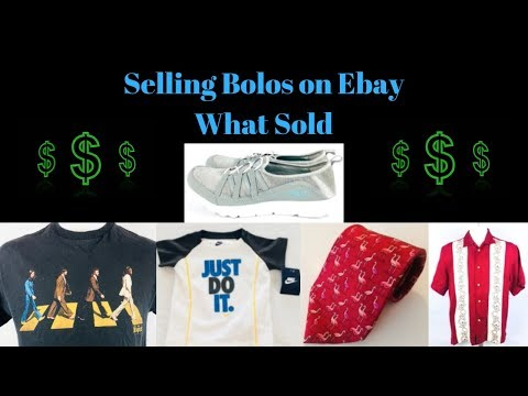 What Sold on Ebay. April 2018 Bolos