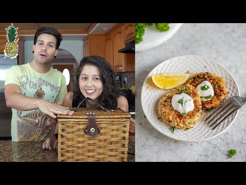 Vegan Crab Cakes + Chopped Challenge vs. From My Bowl
