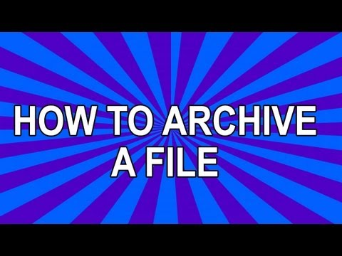 HOW TO | archive a file or folder