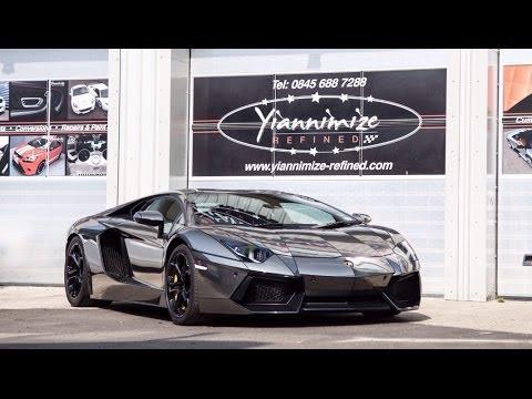 Lamborghini Aventador gets wrapped TRON style!