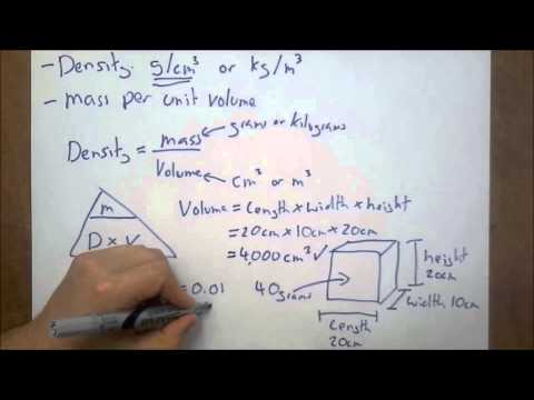 Density of Regular and Irregular Solids - IGCSE Physics