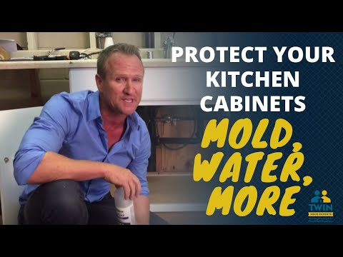 Protect your kitchen cabinets from water damage , mold and musty odor