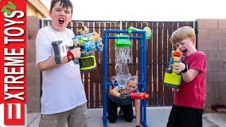 Babysitter Showdown! Sneak Attack Squad Nerf Battle Vs Aunt!