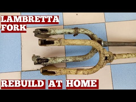 How To Rebuild Lambretta Scooter Fork At Home Video-Diy-General Idea