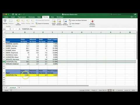 VLOOKUP Macbook Excel 2016