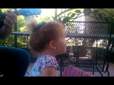 2 year old sings leaving on a jet plane