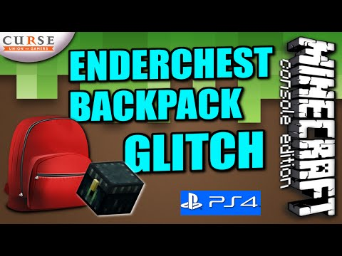MINECRAFT  ( PS4 / PS3 ) ENDERCHEST BACKPACK GLITCH - TUTORIAL ( XBOX ) WII