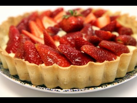Strawberry Tart (Tarte aux fraises) - Homemade Recipe - CookingWithAlia - Episode 250