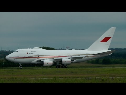Bahrain Royal Flight Boeing 747SP Landing & Takeoff