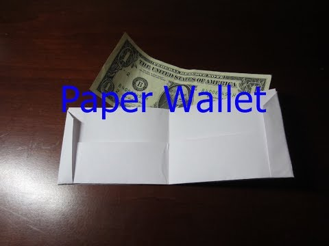 Cool things to Make Out of Paper (Part 3) Paper Wallet| Video Bros