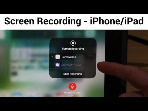 Screen Recording on iPhone/iPad (Including iOS and Microphone Audio) - Record your screen in iOS 11