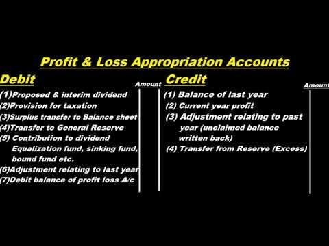 Profit & Loss Appropriation Account Format & Basic Concepts ? Urdu / Hindi