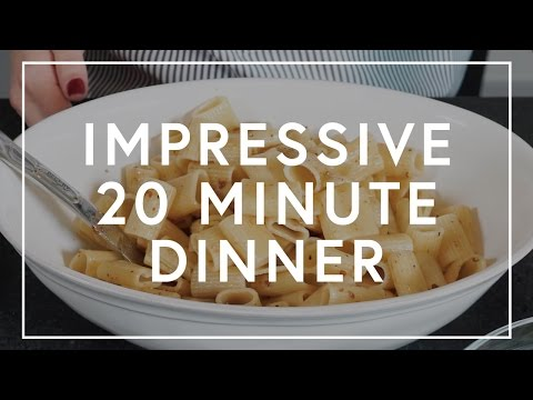How To Make An Impressive Dinner In Under 20 Minutes | The Zoe Report By Rachel Zoe