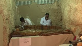 Mummies discovered in ancient tomb near Egypt