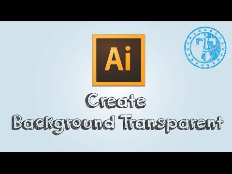 How to make Adobe Illustrator Background Transparent