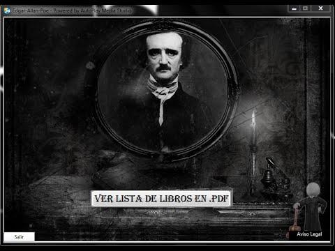 Aplicación Edgar Allan Poe (55 libros en .pdf )