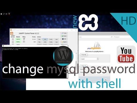 xampp mysql password reset full tutorial ( With shell method )