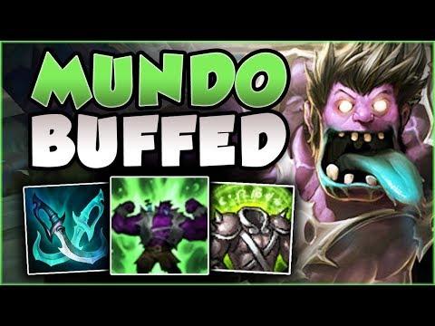 WTF! RIOT 100% GAVE TOO MUCH HEALING TO MUNDO! BUFFED MUNDO SEASON 8 TOP GAMEPLAY! League of Legends