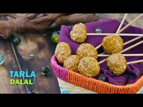 Oats Lollipop (Healthy Snack for Kids) by Tarla Dalal