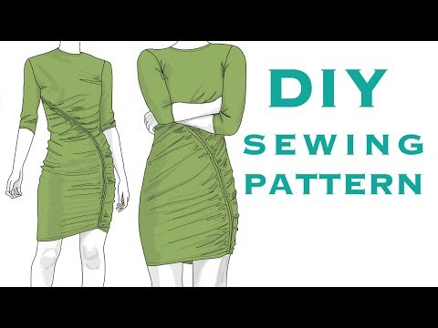 Design a Ruched Jersey Dress Pattern