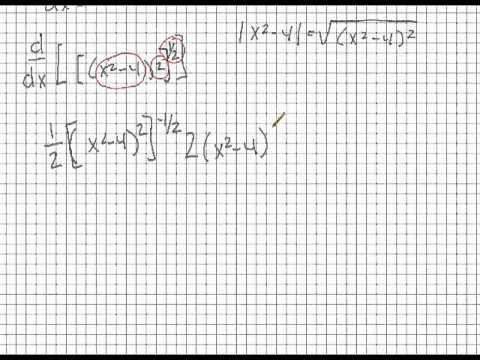 Calculus: Derivative of an Abs. Value Function