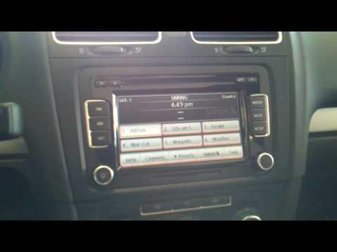 Volkswagen Premium 8 Stereo - Sirius Radio ID #