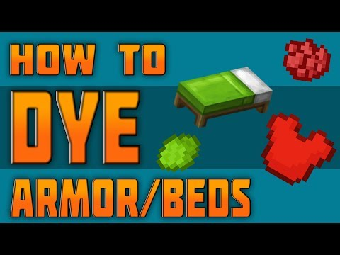 (TU54) HOW TO DYE ARMOR & BEDS IN MINECRAFT - PS3 PS4 XBOX 360 XBOX ONE WII U