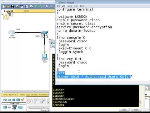 Part-7, Basic Cisco Router and Switch configuration CCNA 200-120 - chapter 2