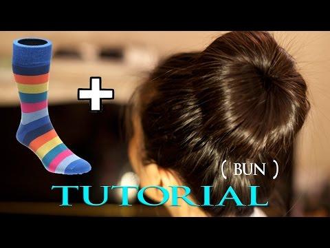 The Sock Bun on Wet Hairstyle Tutorial