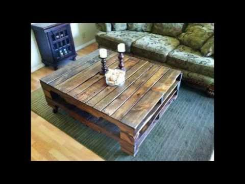 Pallet Wood Coffee Table - Recycled Wood Pallets Furniture
